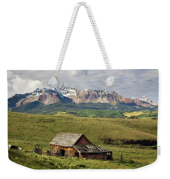 Old Barn And Wilson Peak Horizontal Weekender Tote Bag