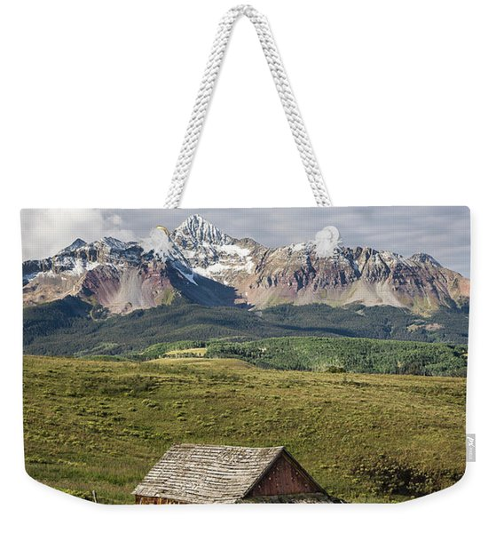 Old Barn And Wilson Peak Vertical Weekender Tote Bag