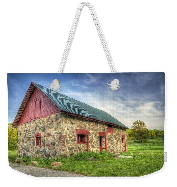 Old Barn At Dusk Weekender Tote Bag