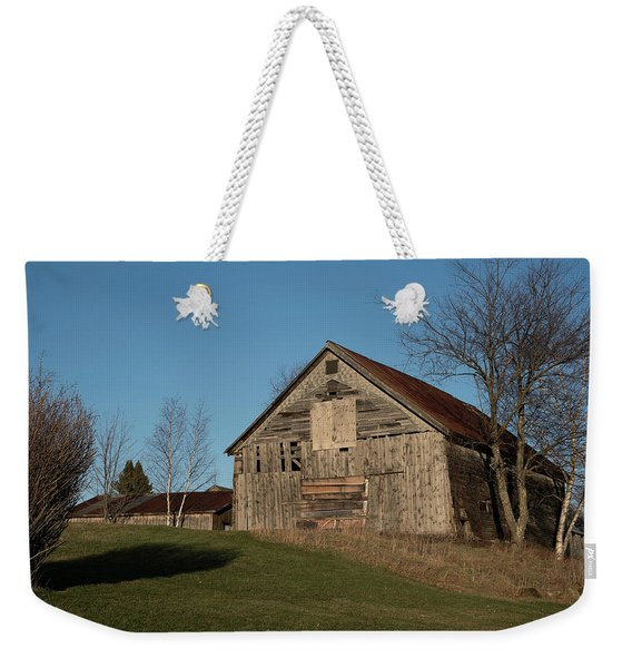 Old Barn On A Hill Weekender Tote Bag