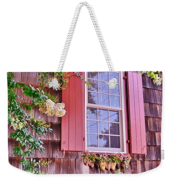 Weekender Tote Bag featuring the photograph Old Bethel Church Window by Kim Bemis