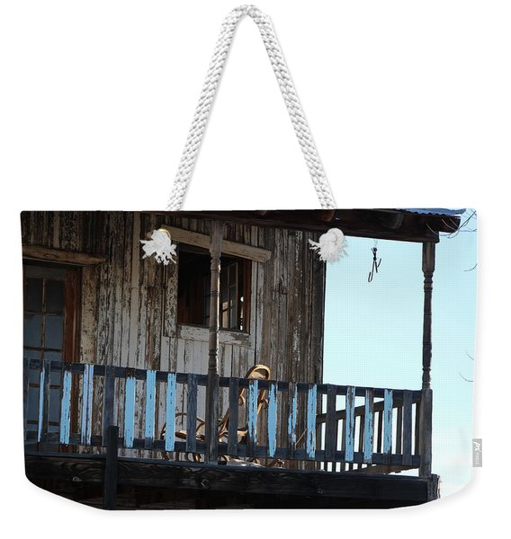Old Blue Balcony Weekender Tote Bag