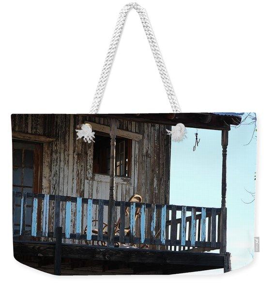 Old Blue Balcony Weekender Tote Bag
