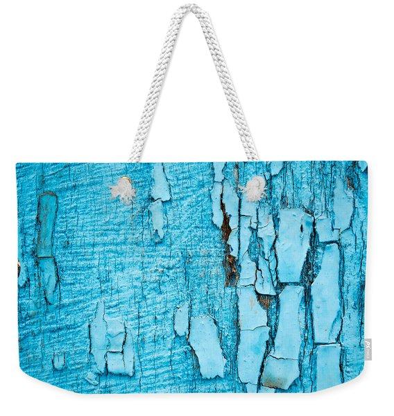 Old Blue Wood Weekender Tote Bag