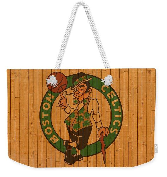 Old Boston Celtics Basketball Gym Floor Weekender Tote Bag