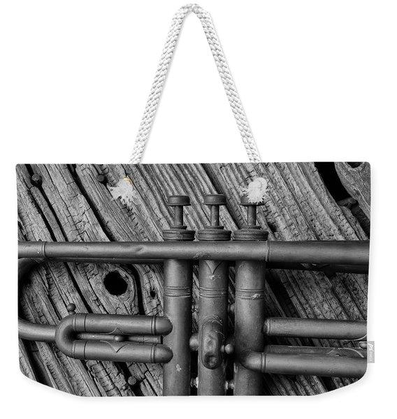 Old Brass Trumpet Weekender Tote Bag