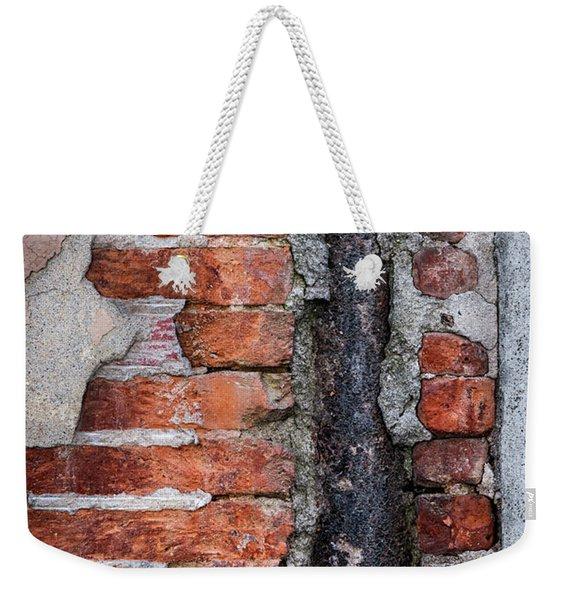 Old Brick Wall Fragment Weekender Tote Bag