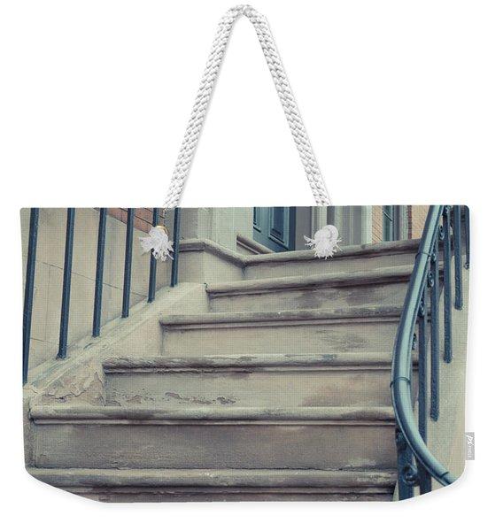 Old Brownstone Staircase Weekender Tote Bag