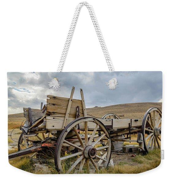 Old Buckboard Wagon Weekender Tote Bag