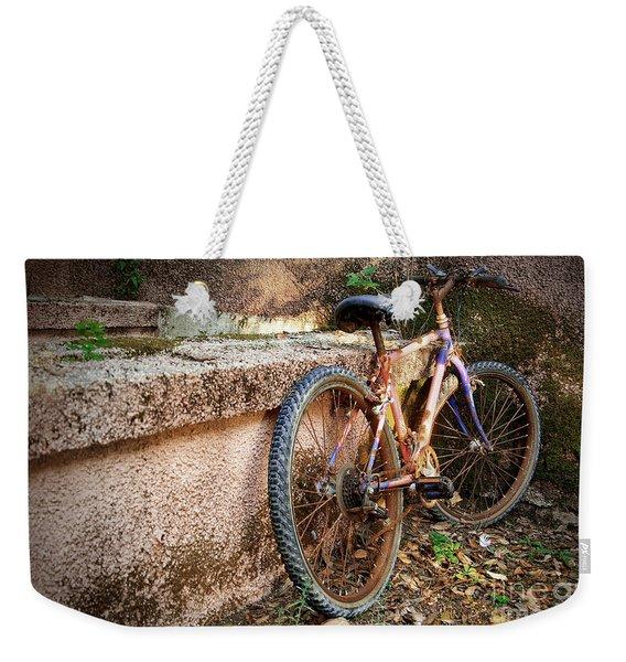 Old Bycicle Weekender Tote Bag