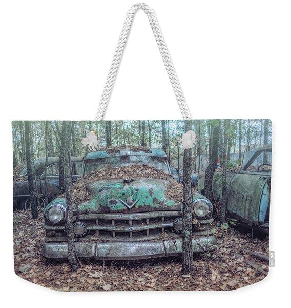 Old Caddy Weekender Tote Bag