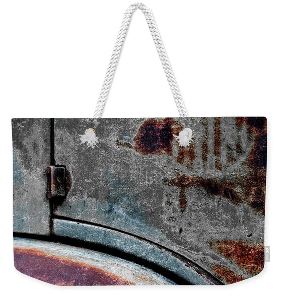 Old Car Weathered Paint Weekender Tote Bag
