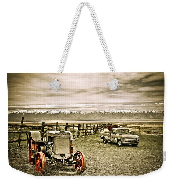 Old Case Tractor Weekender Tote Bag