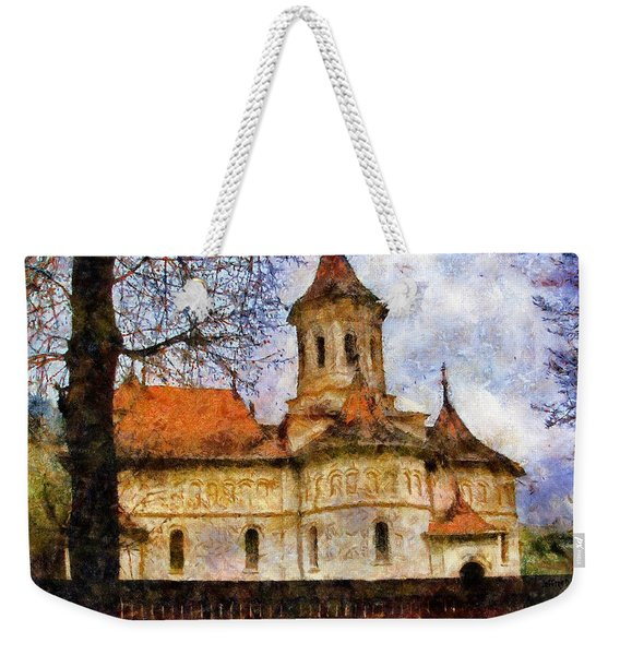 Old Church With Red Roof Weekender Tote Bag