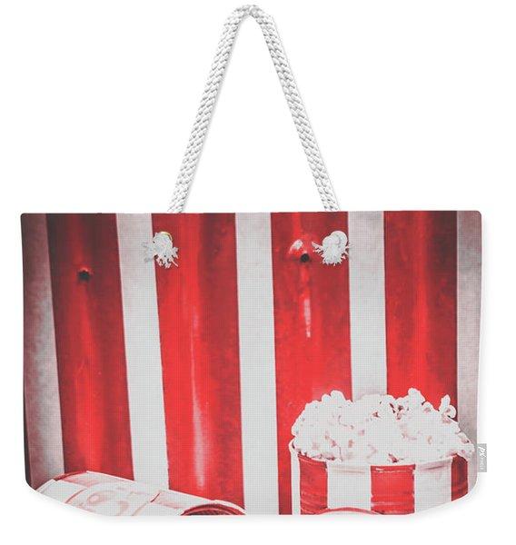 Old Cinema Pop Corn Weekender Tote Bag