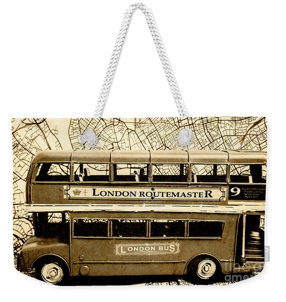 Old City Bus Tour Weekender Tote Bag