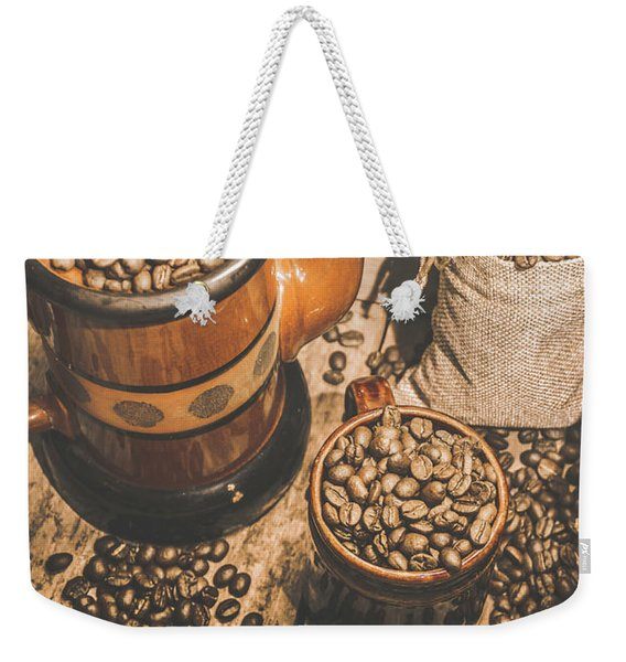 Old Coffee Brew House Beans Weekender Tote Bag