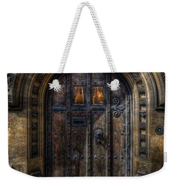 Old College Door - Oxford Weekender Tote Bag