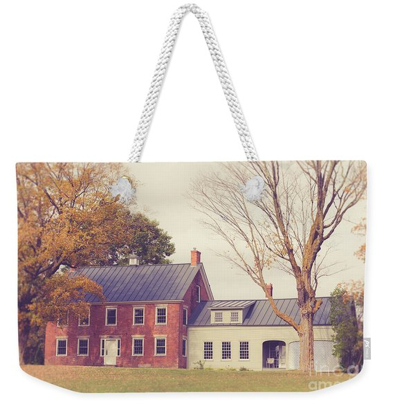 Old Colonial Farm House Vermont Weekender Tote Bag