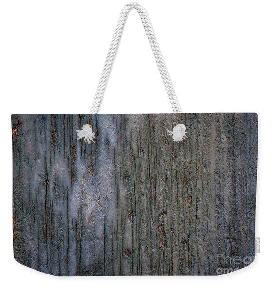 Old Cracked Wood Background Weekender Tote Bag