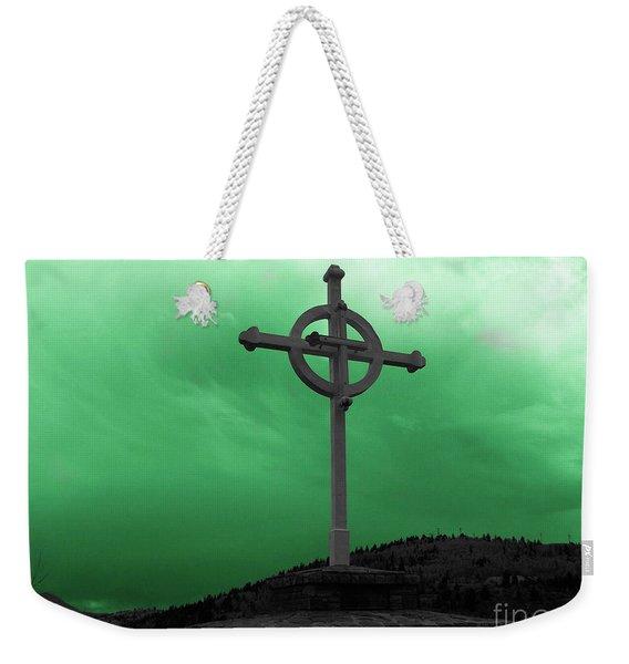 Old Cross - Green Sky Weekender Tote Bag