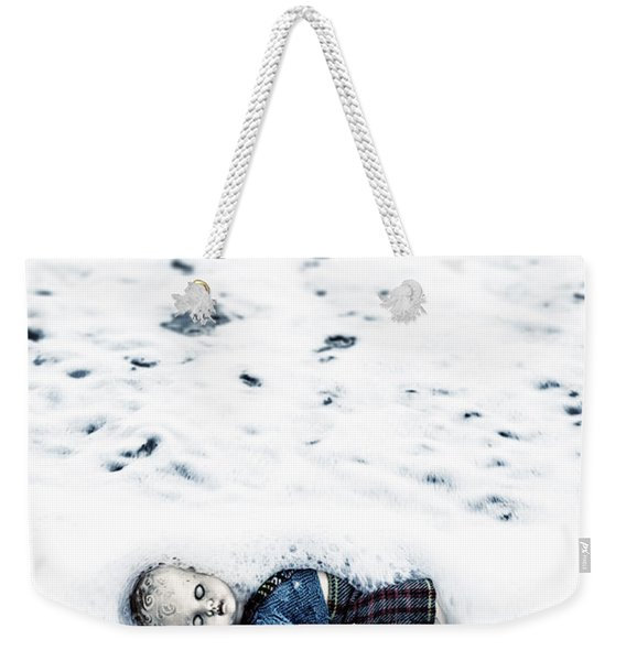Old Doll On The Beach Weekender Tote Bag