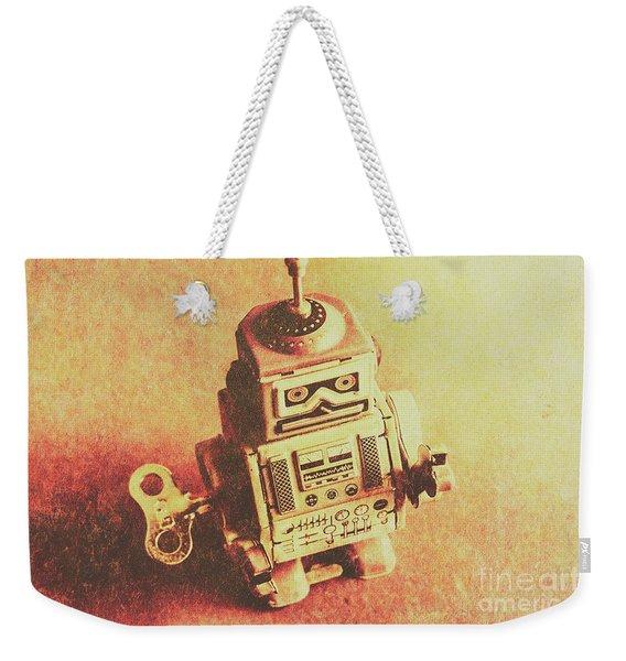 Old Electric Robot Weekender Tote Bag