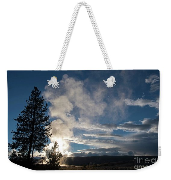 Old Faithfull At Sunset Weekender Tote Bag