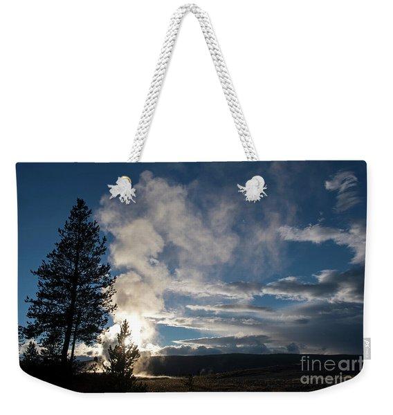 Old Faithfull At Sunset Weekender Tote Bag