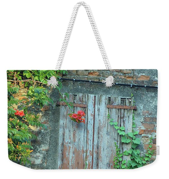 Old Farm Door Weekender Tote Bag