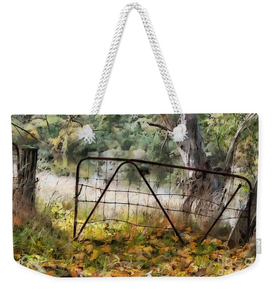 Old Farm Gate Weekender Tote Bag