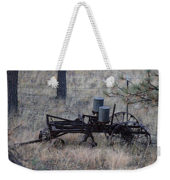 Old Farm Implement Lake George Co Weekender Tote Bag