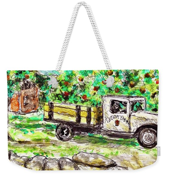 Old Farming Truck Weekender Tote Bag