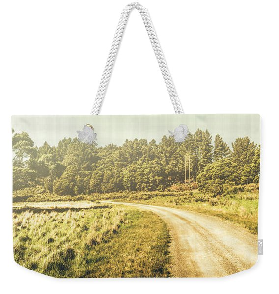 Old-fashioned Country Lane Weekender Tote Bag