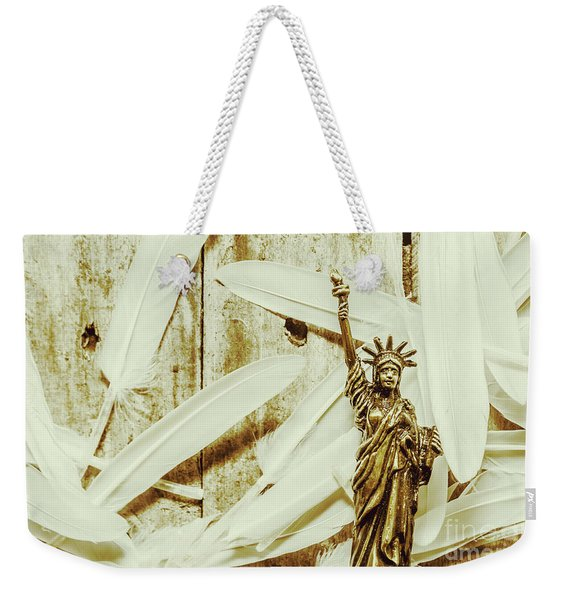 Old-fashioned Statue Of Liberty Monument Weekender Tote Bag