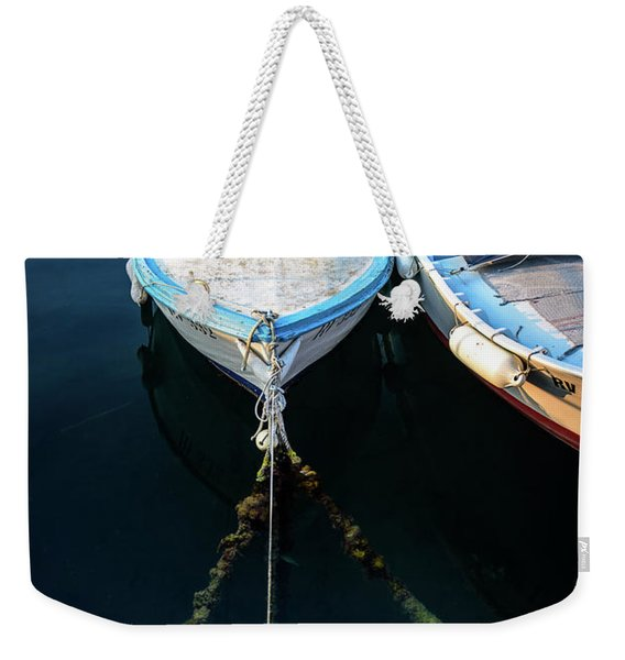 Old Fishing Boats Of The Adriatic Weekender Tote Bag