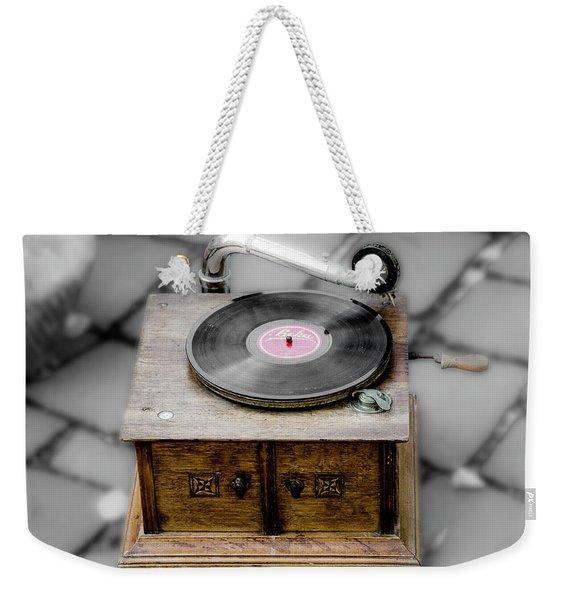 Old Gramophone Weekender Tote Bag