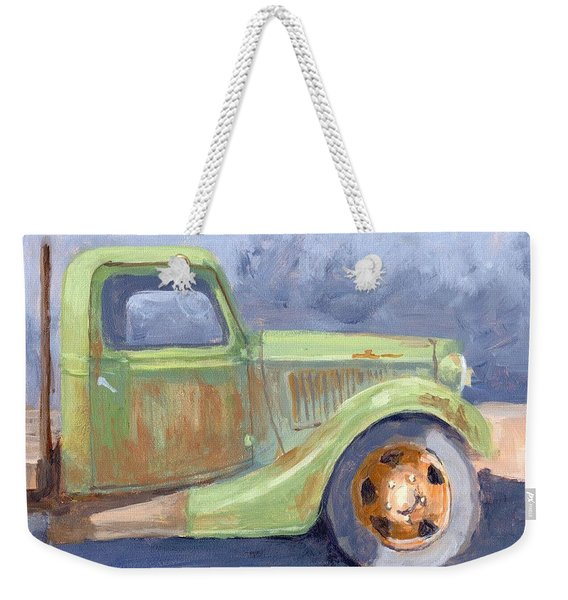 Old Green Ford Weekender Tote Bag