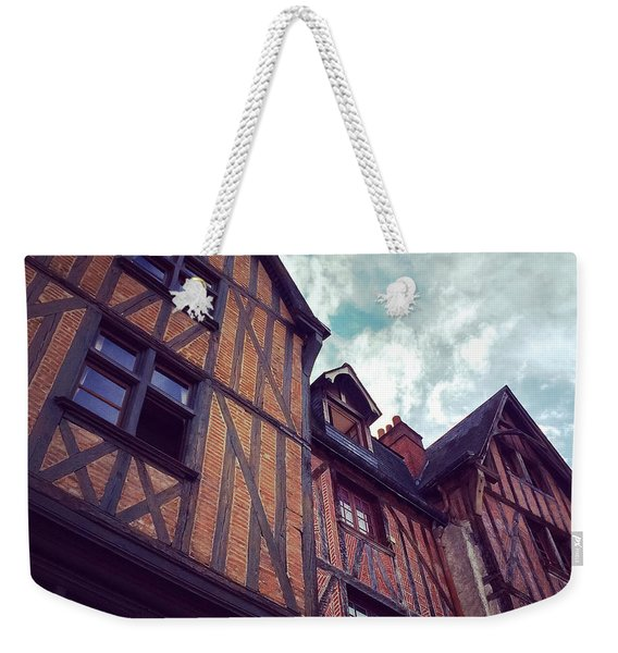 Old Half-timbered Houses In Tours, France Weekender Tote Bag