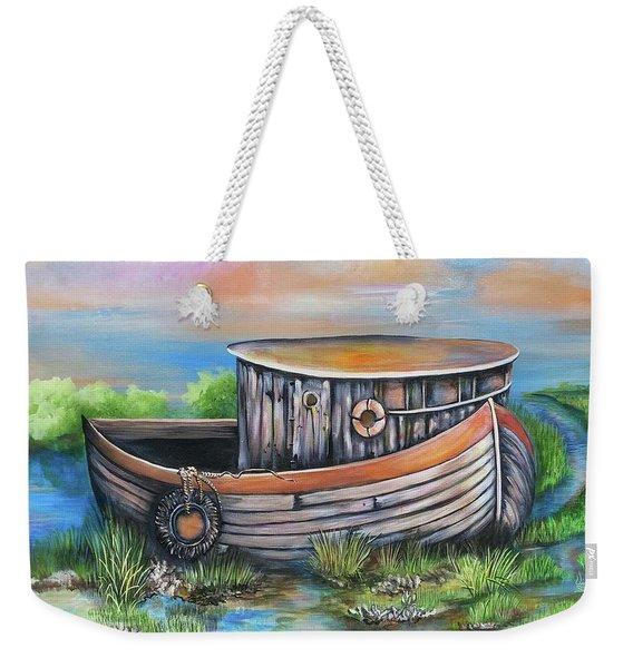 Old Mans Boat Weekender Tote Bag