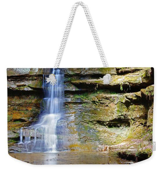 Old Man's Cave Waterfall Weekender Tote Bag