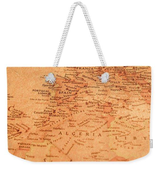 Old Maritime Map Weekender Tote Bag