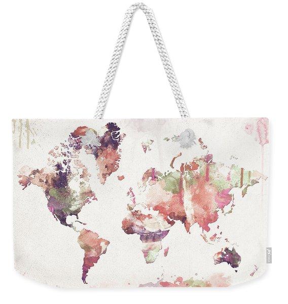 Old Memories World Map Weekender Tote Bag
