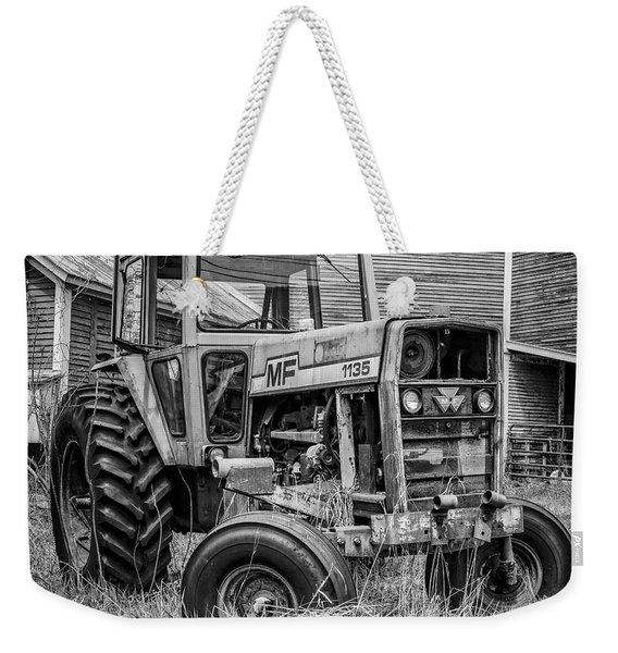 Old Mf Tractor Square Weekender Tote Bag