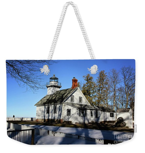 Old Mission Lighthouse Weekender Tote Bag