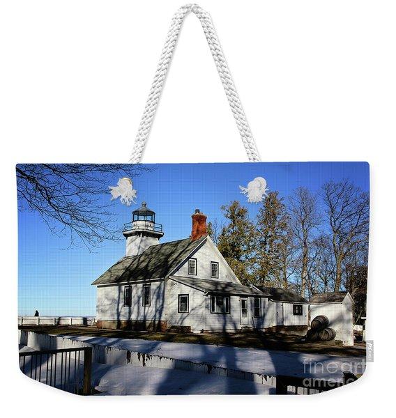 Old Mission Lighthouse Weekender Tote Bag