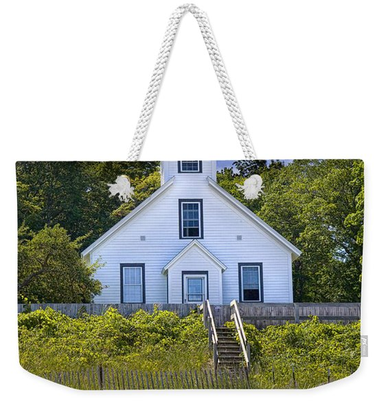 Old Mission Point Lighthouse In Grand Traverse Bay Michigan Number 2 Weekender Tote Bag