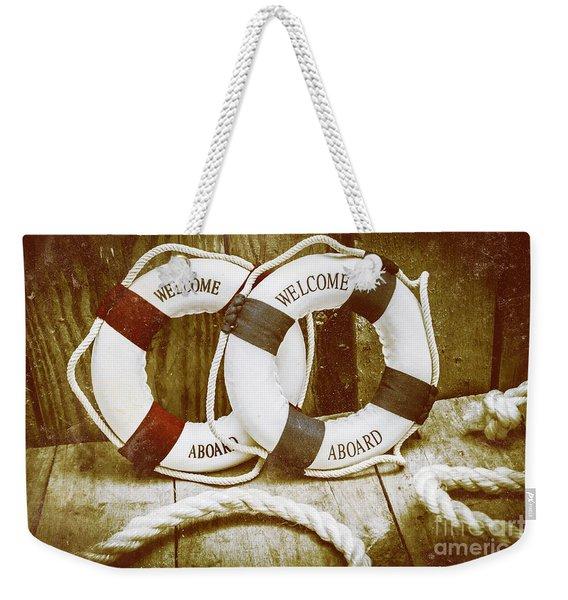 Old Nautical Art Weekender Tote Bag