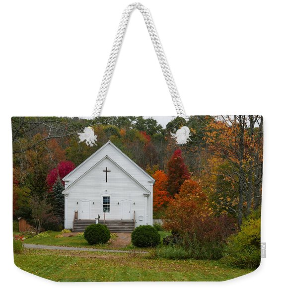 Old New England Church Weekender Tote Bag