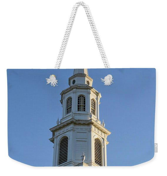 Old New England Church Steeple Concord Weekender Tote Bag